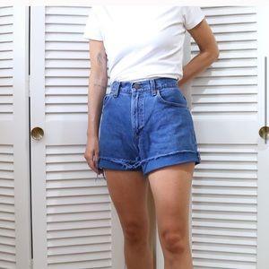 Dark wash Levi Cut Off Shorts